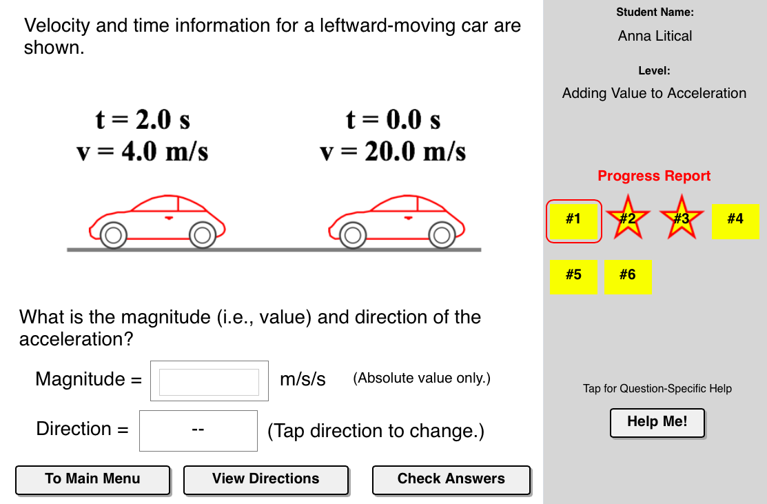 The Acceleration Concept Builder Is Designed To Help Students Build An Understanding Of Acceleration The Main Outco Acceleration Understanding Progress Report [ 731 x 1113 Pixel ]