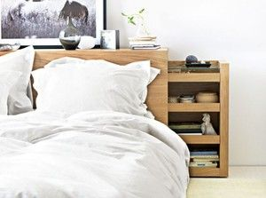 Details About Ikea Malm Bed Head With Storage Oak Veneer Malm