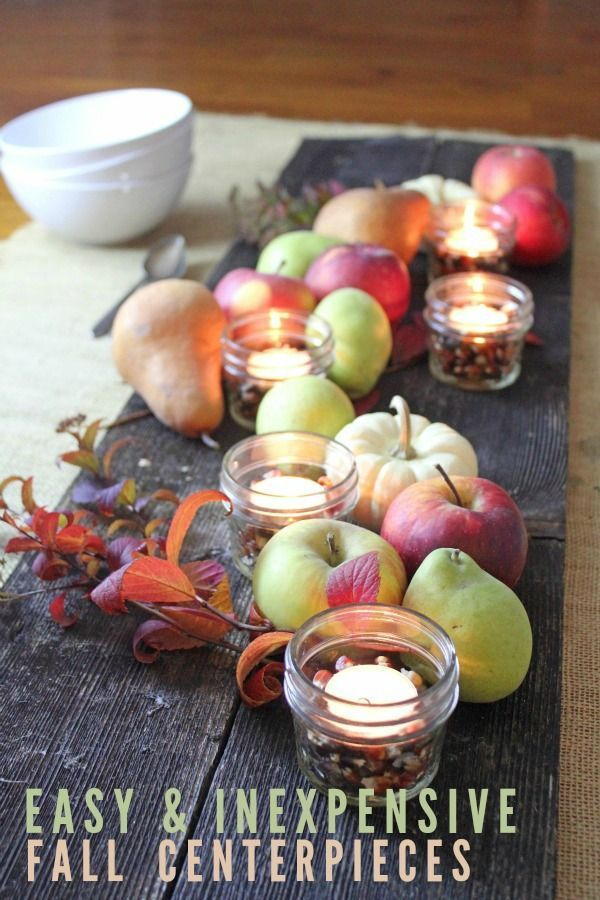 5 Easy and Inexpensive Fall Centerpiece Ideas images