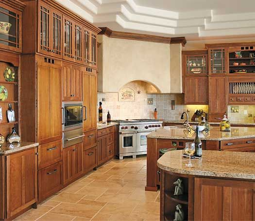 Kitchen In Toledo, OH. Designed By Jennifer Diehl With Design Classics LLC.  Fieldstone Cabinetry Manchester Door Style In Cherry Finished In Toffee.