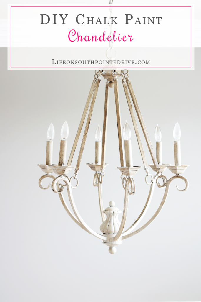 Our mini linky party painted chandelier chalk paint diy and diy this diy chalk paint chandelier tutorial is featured at this weeks link party click the aloadofball Image collections