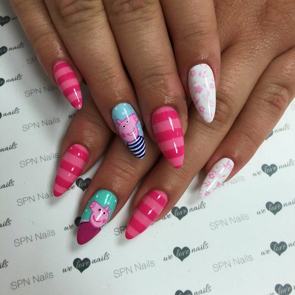 Image Result For Peppa Pig Nails