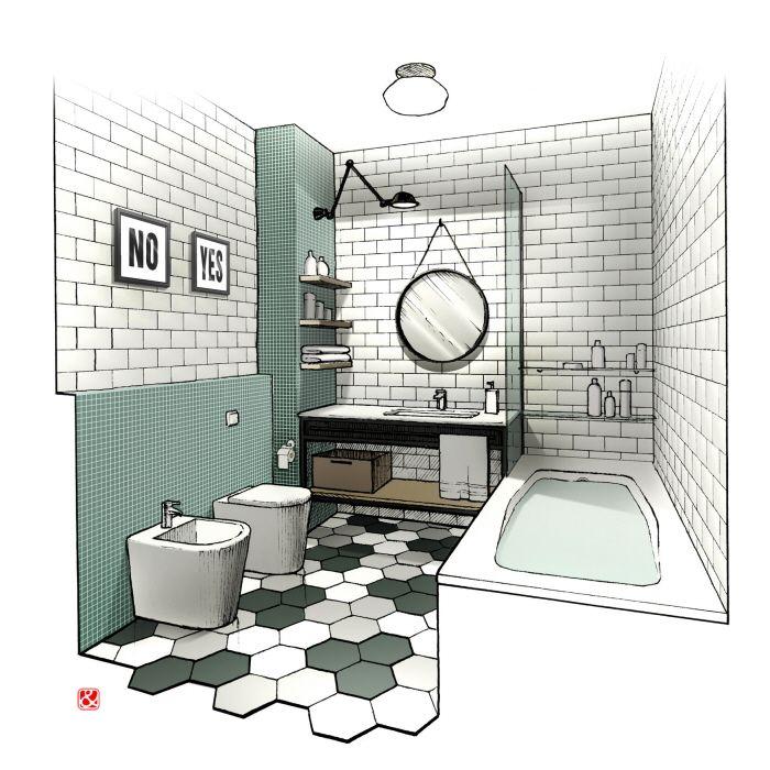 Interior illustrations. Apartments