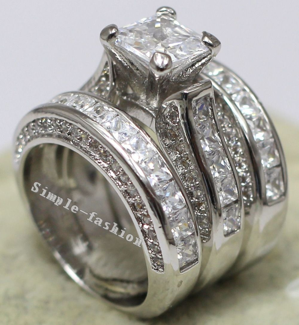 ring princess rings stone set cut bridal channel product engagement diamond wedding band