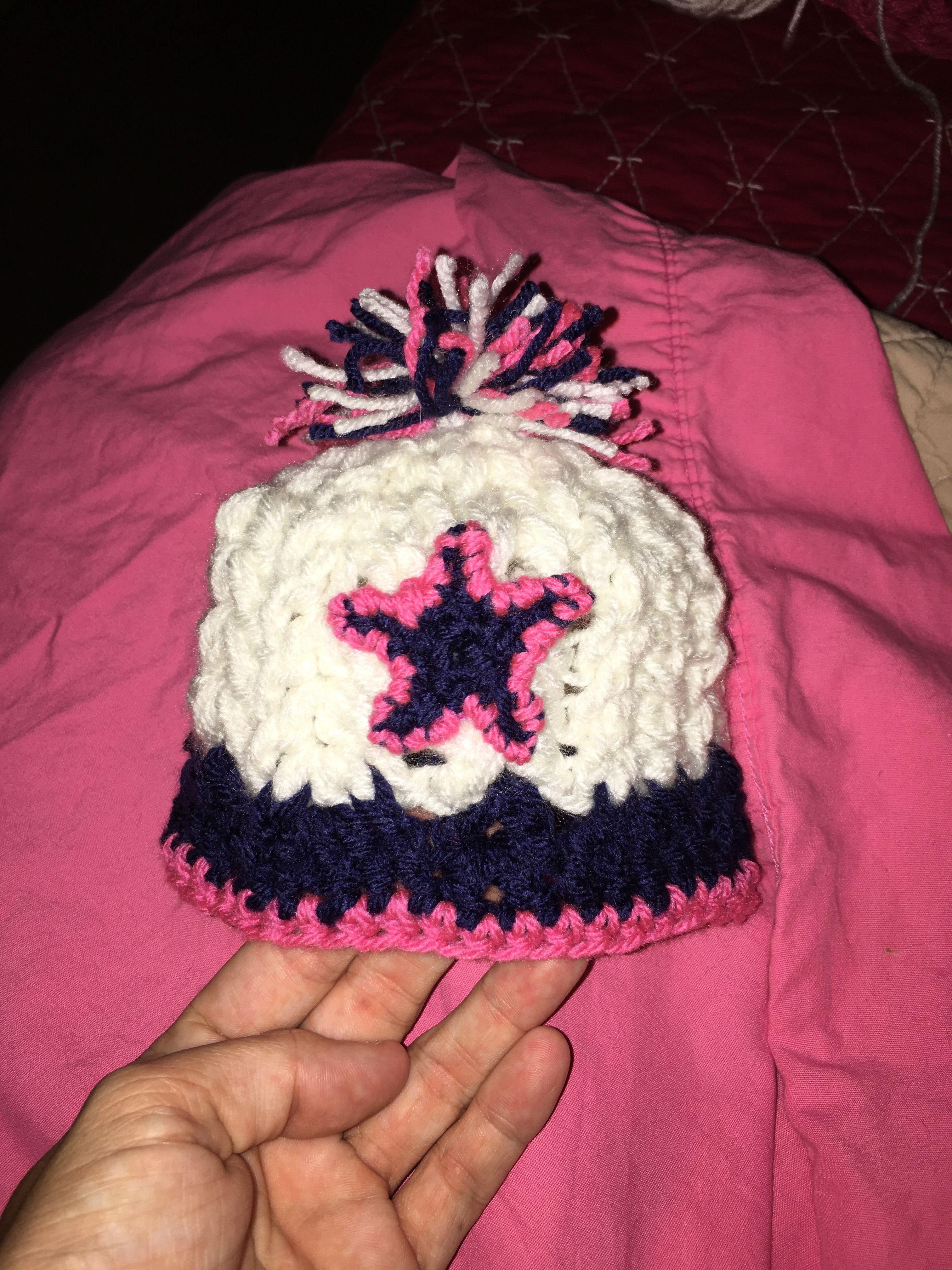 Dallas Cowboys baby beanie hat