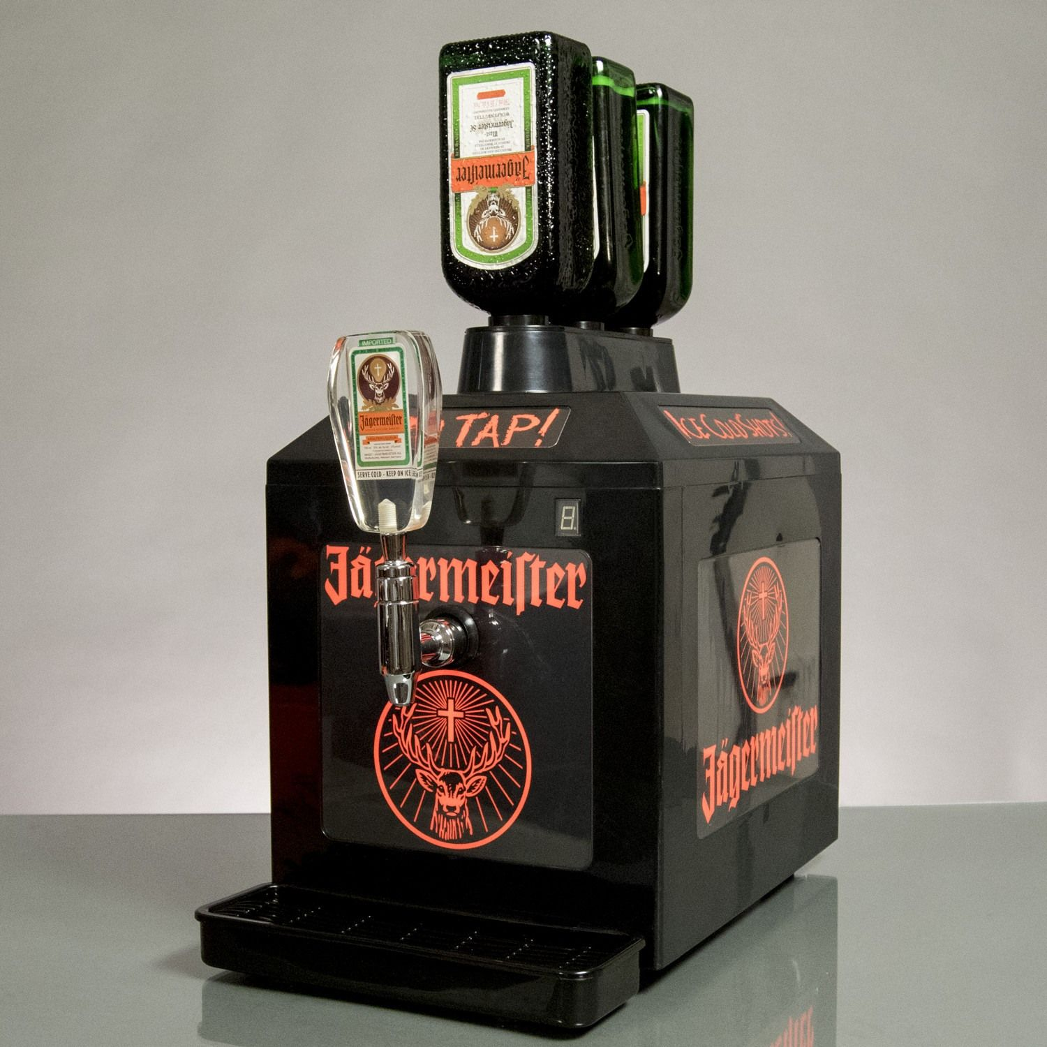 The Jägermeister 3 Bottle Tap Machine Is Perfect For Serving Up Ice Cold Shots Jagermeister Bottle Shoot Bottle