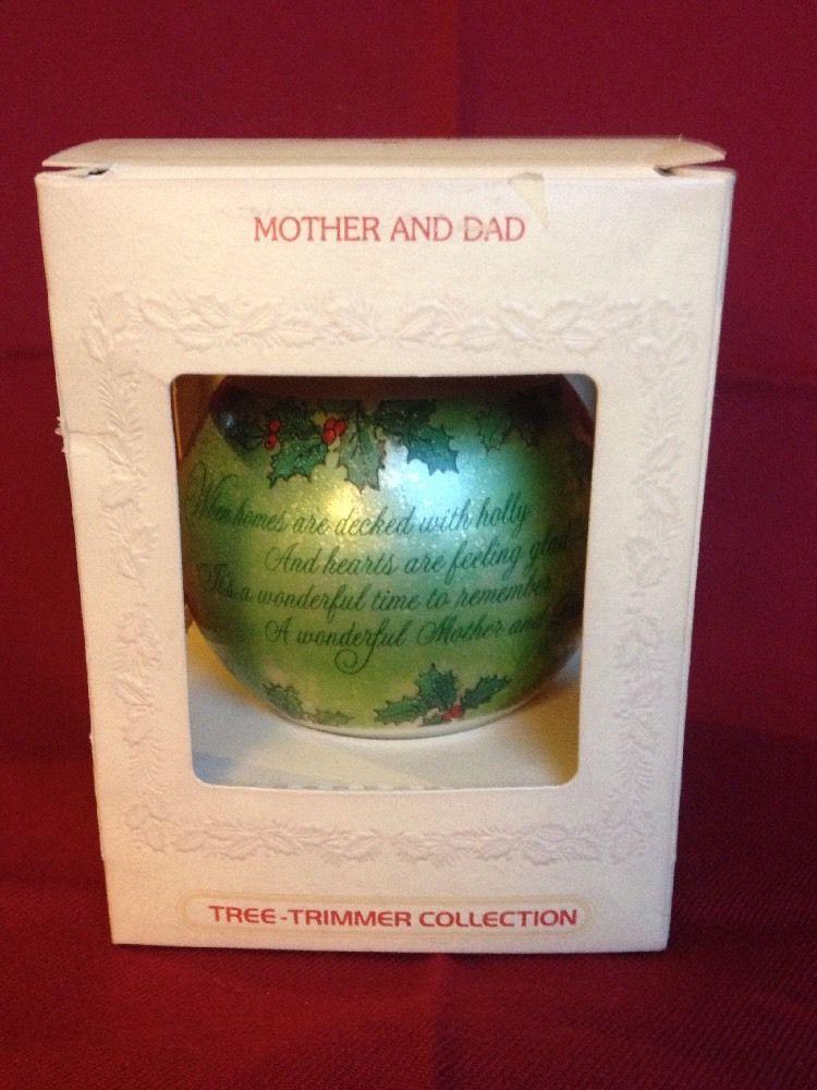 Vintage Hallmark Keepsake 1980 Glass Ornament Bulb Mother