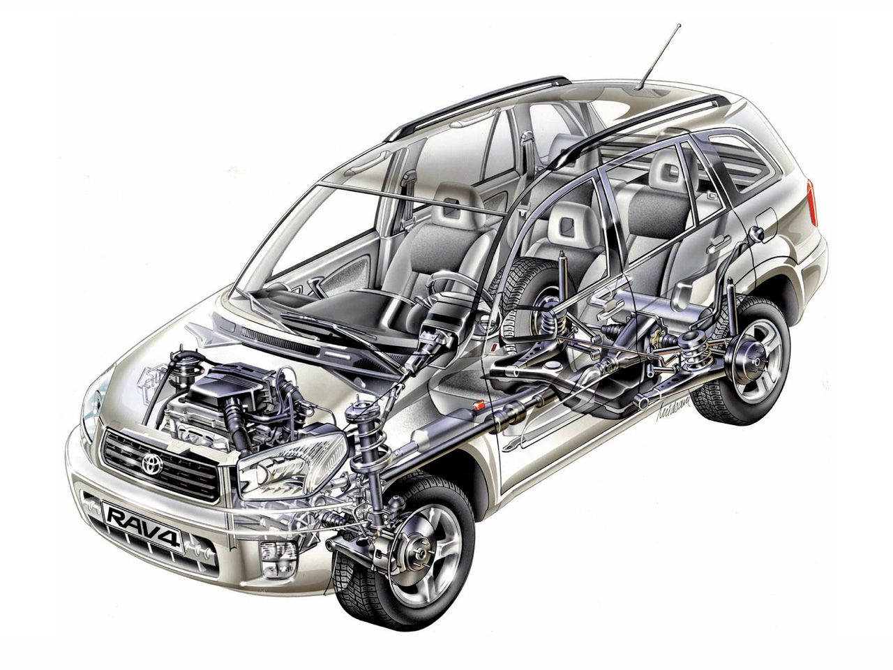 2003-2005 Toyota RAV4 5-door - Illustrator\'s name illegible ...