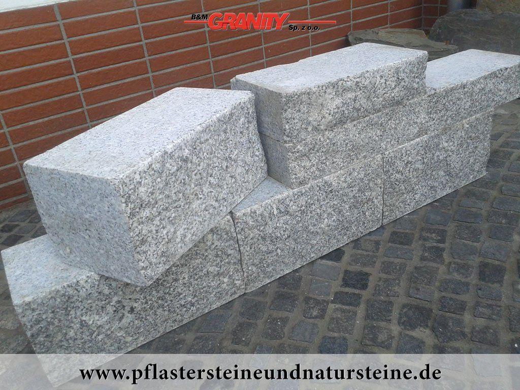 """POLEN GRANIT hat viele """"Gesichter""""…Granit Quader Granit"""