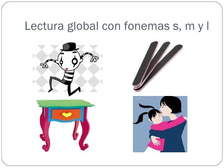 Lectura global con fonemas s, m y l