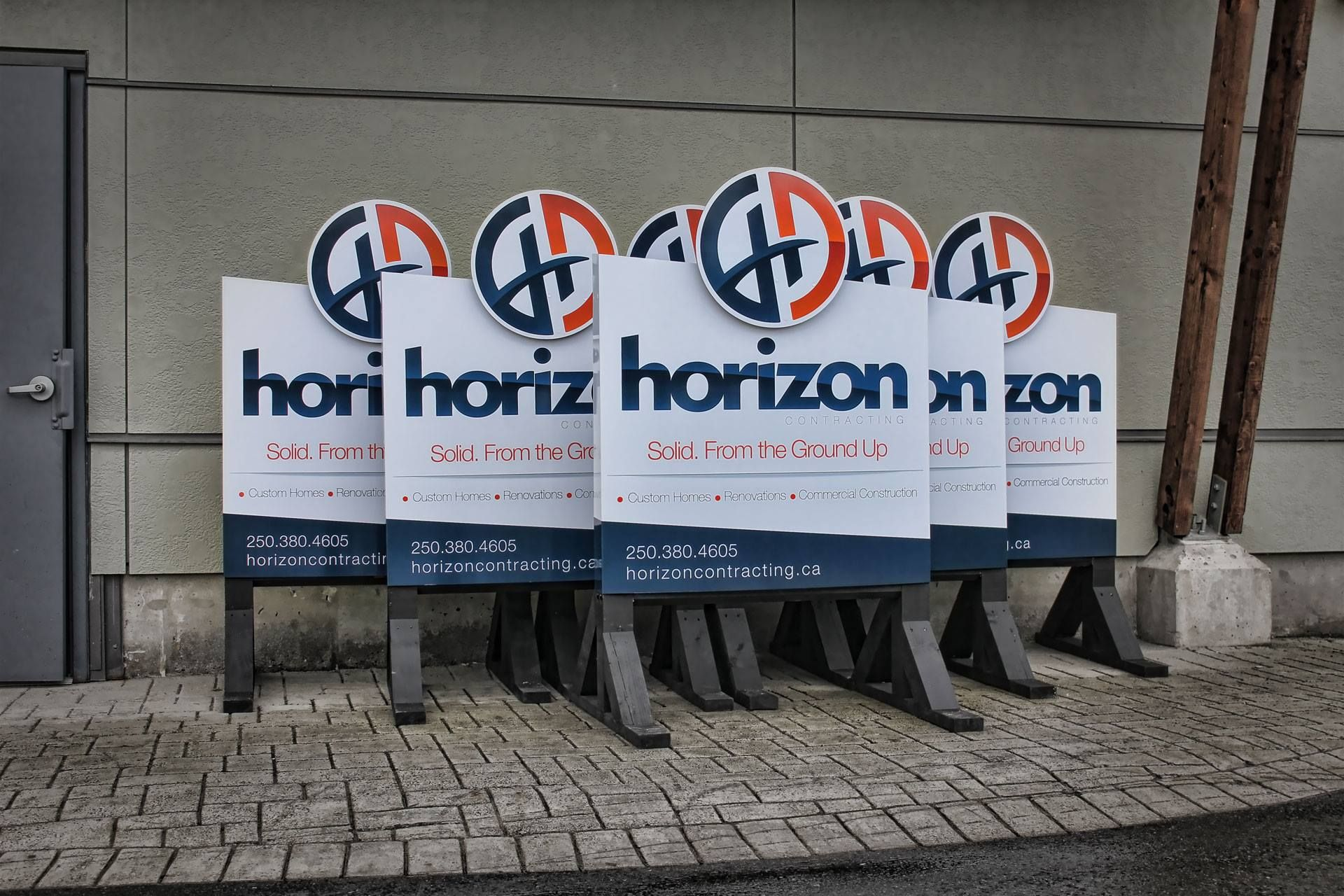 Construction job site signs by the sign pad victoria