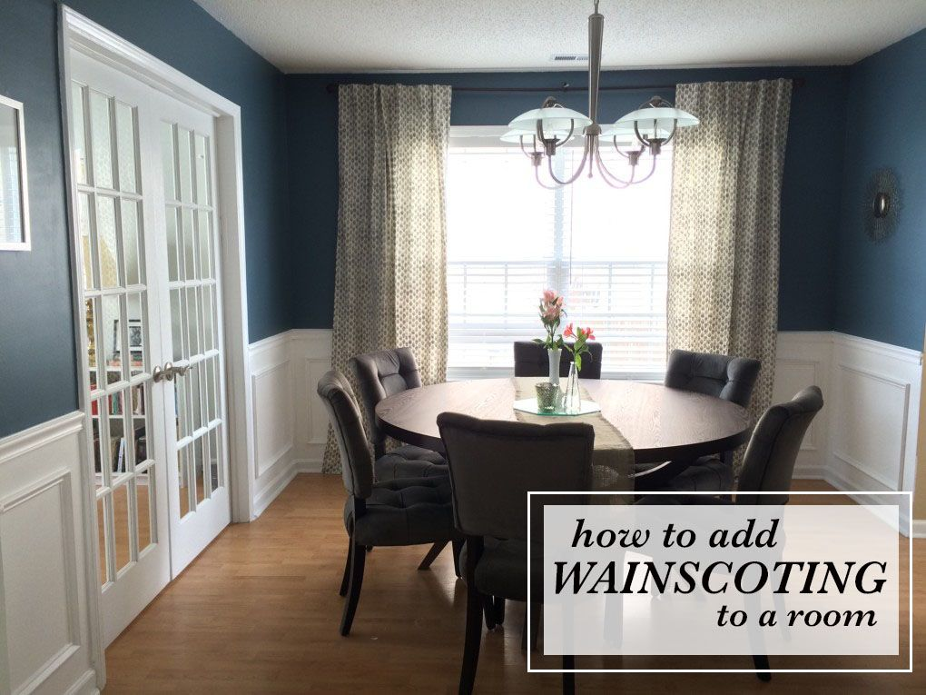 Diy How To Install Wainscoting Dining Room