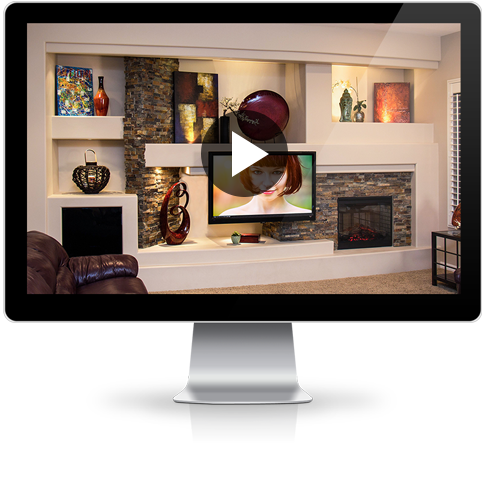 Custom Media Wall Home Entertainment Center Design Dagr Design
