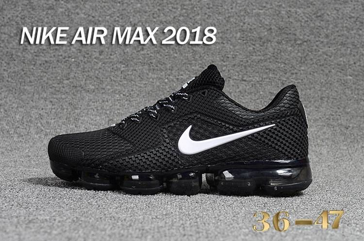 70074056a58f27 Nike 2018 KPU +5 Nike Air Vapor MAX 2018 +5 KPU Women Men Black White 36-47