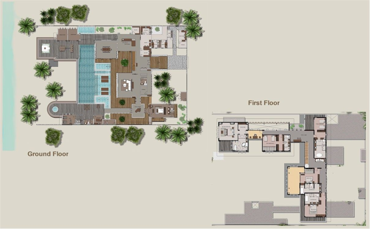 Amilla Beach Villa Residences The Amilla Villa Estate Resort Plan Floor Plans Villa Residences