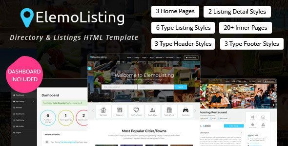 Elemolisting Is A Directory Listings Template With User