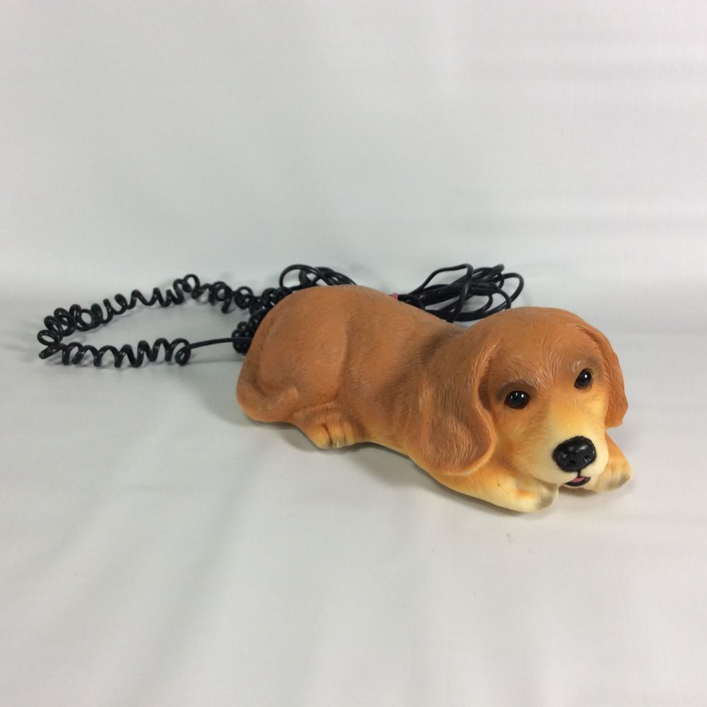 Dog Phone Barks When Rings Push Button Telephone Tested Works