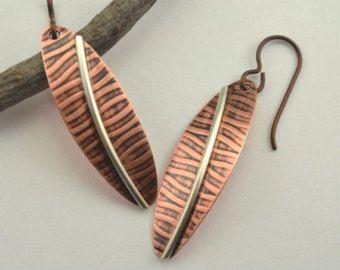 Metalsmith Earrings Turquoise Geometric Por Mese9 En Etsy