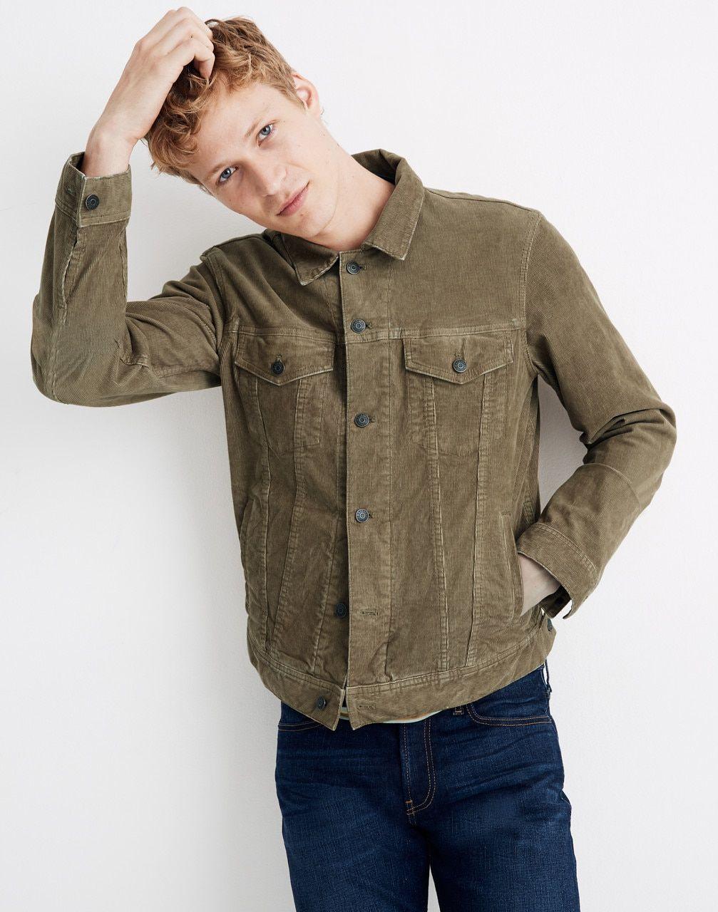 Classic Jean Jacket Corduroy Edition Denim Jacket Men Classic Jeans Denim Jacket And Jeans [ jpg ]