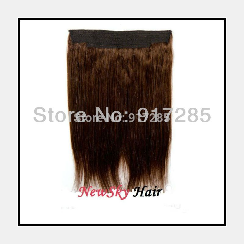 100gpc 2pc Flip In Hair Halo Extensions Color1 1b 2 4 6 8 10 12 14