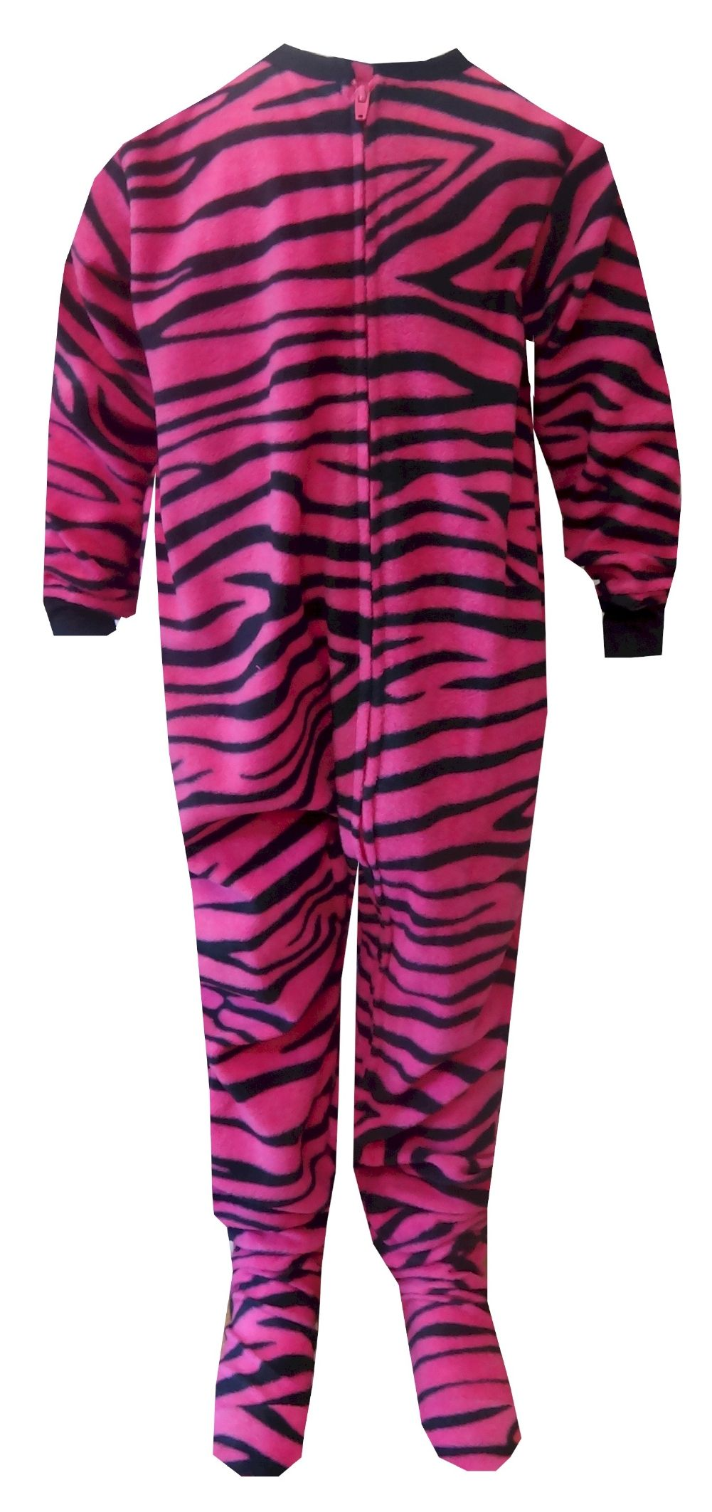 Pink Zebra Fleece One Piece Footie Pajama | Pajamas, Girls and ...