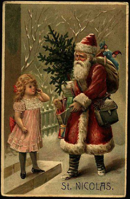 Image result for victorian santa claus