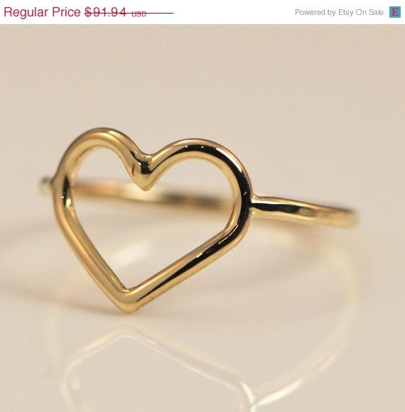 Fathers Day Sale Heart Ring Yellow Gold By Thejewelrygirlsplace 73 55 Etsy Jewelry Ring Gold 10k Handmade Gold Heart Ring Heart Ring 10kt Gold Ring