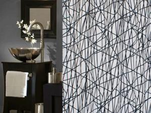black white le rideau de douche design d co. Black Bedroom Furniture Sets. Home Design Ideas