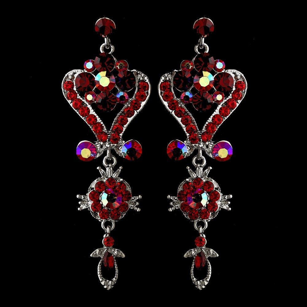 Silver red multi crystal chandelier earrings crystal chandeliers silver red multi crystal chandelier earrings arubaitofo Choice Image