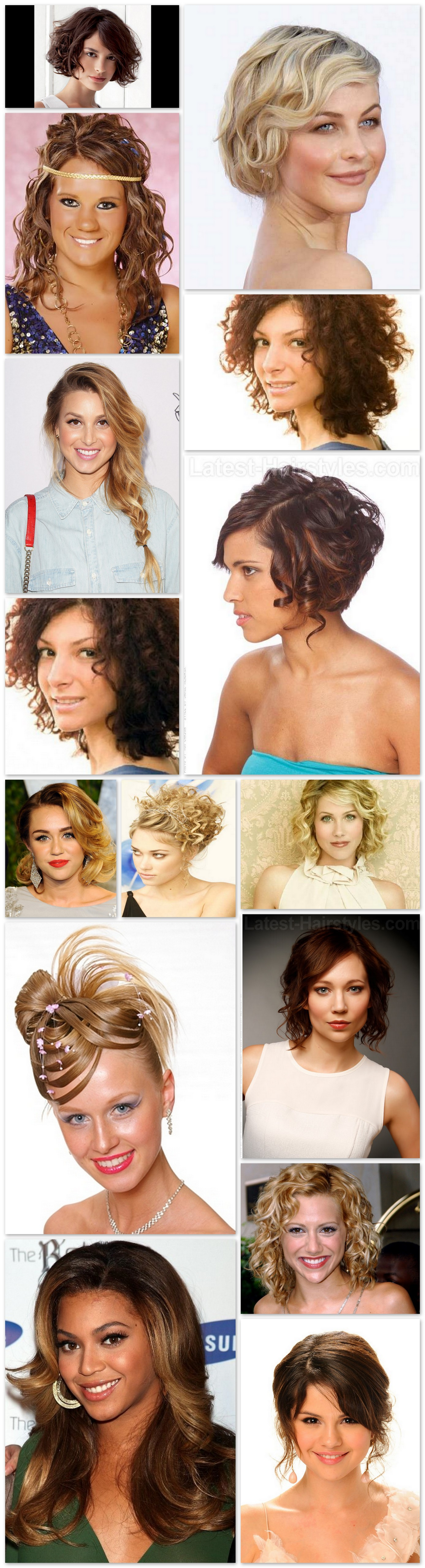 Bobs for curly hair in casual and formal look step by