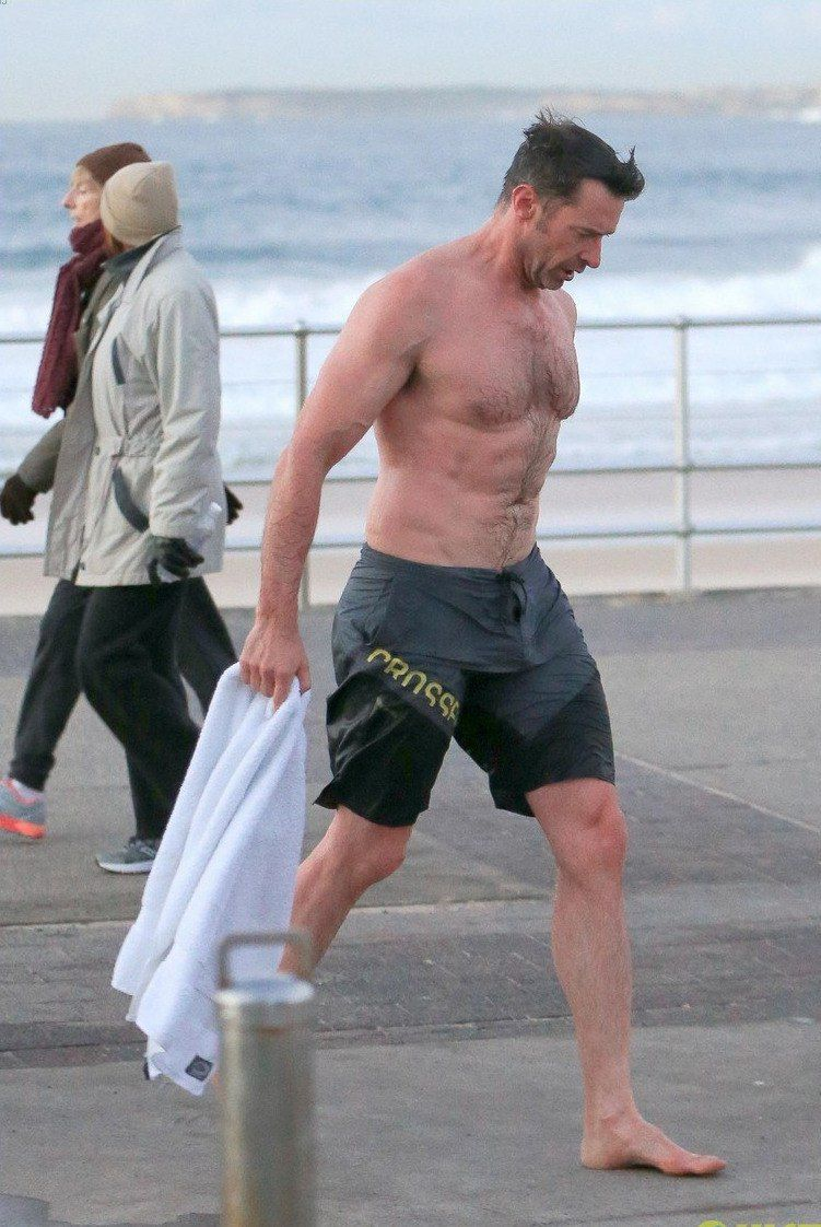 MAN CANDY: Hugh Jackman Showered Off Dad Bod (& Bulge) at ...