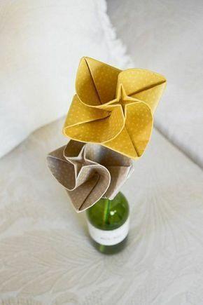 origami pour debutant fleur origami comment creer un. Black Bedroom Furniture Sets. Home Design Ideas