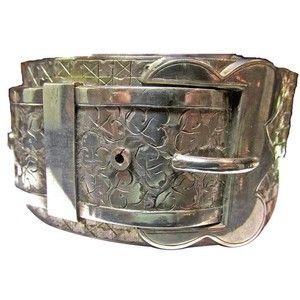 Antique Sterling Bangle Bracelet $1,100