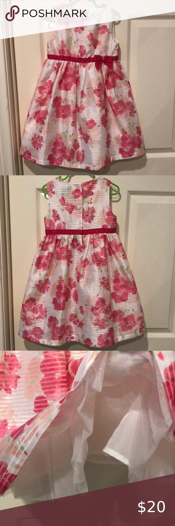 Gymboree Pink White Striped Floral Dress 5t Dresses 5t Dresses Floral Dress [ 1740 x 580 Pixel ]