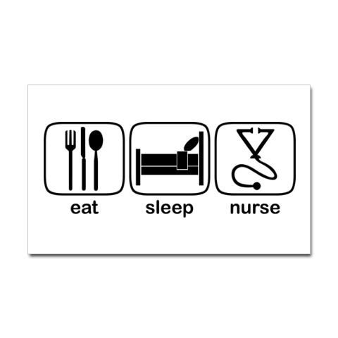 eat sleep nurse decal ~ email me at customized.decals