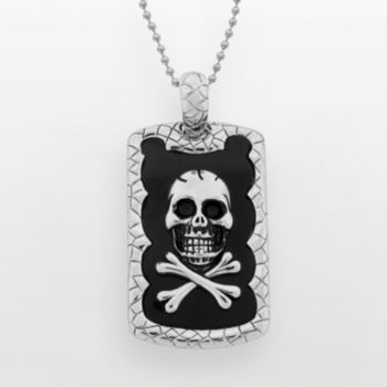 Stainless Steel Skull Dog Tag - Men