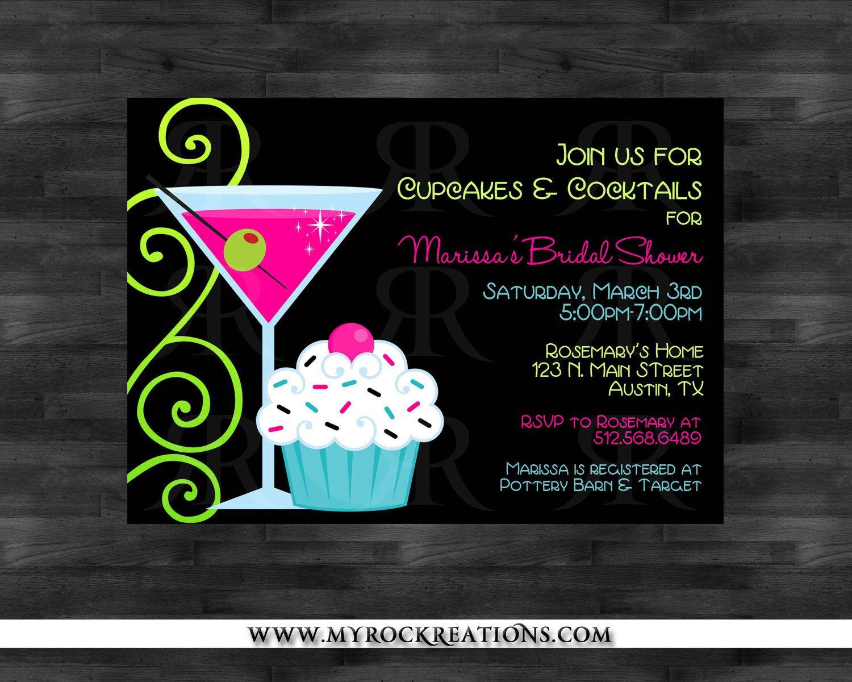 bridal shower invitation cupcakes cocktails digital printable invitation jpg 1500x1200 cupcakes and cocktails bridal shower
