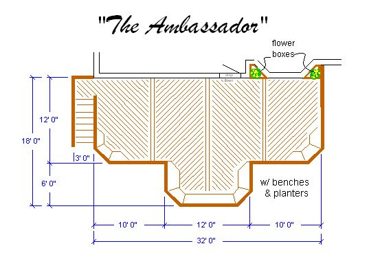 Superb Ambassador Deck Plans, Deck Designs, Deck Drawings, Deck And Porch .
