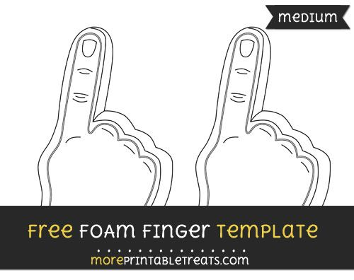 free foam finger template medium football cheer printables