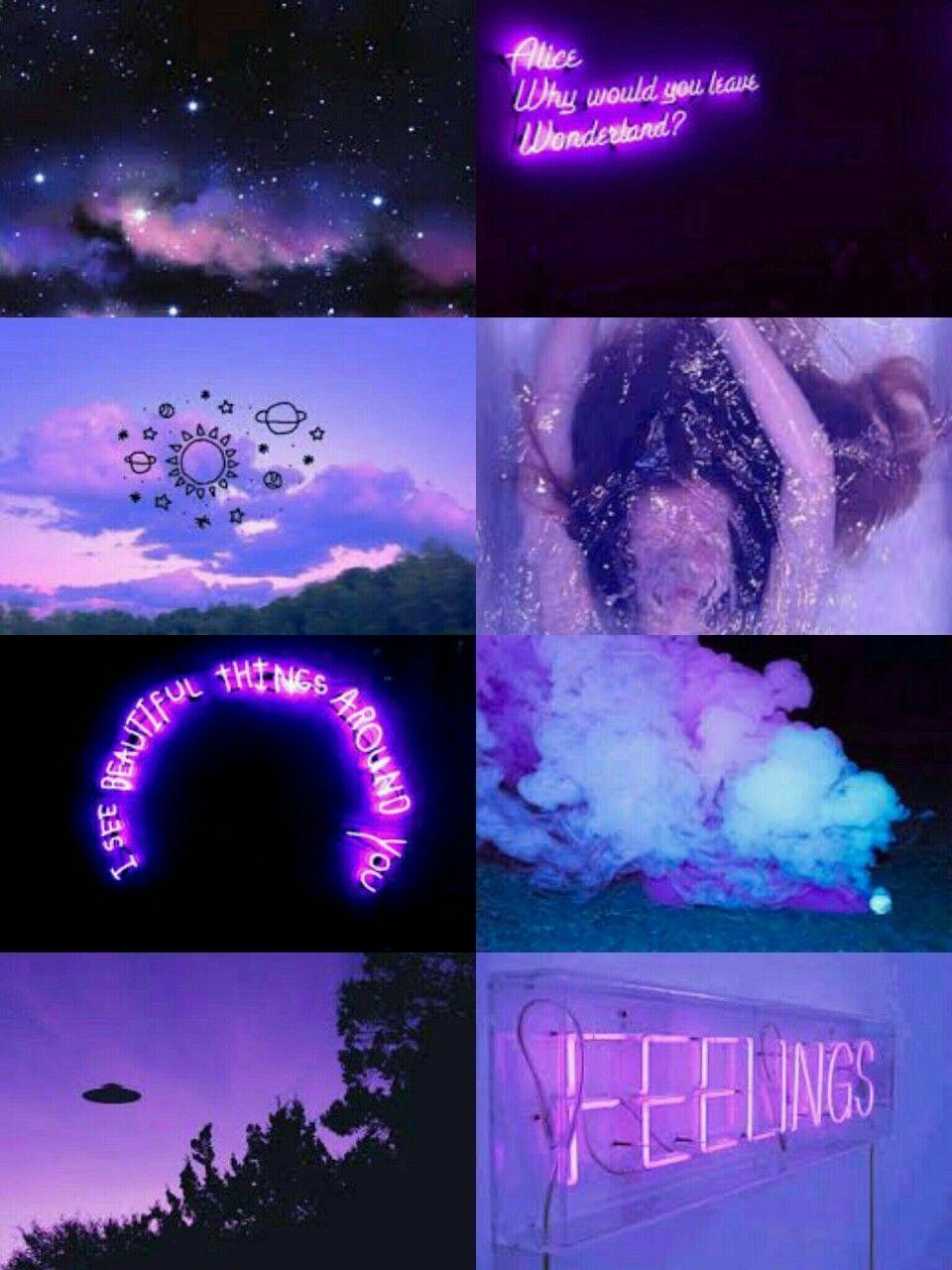 Neon Aesthetic Tumblr Purple Aesthetic Wallpaper