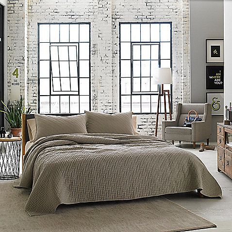 Kenneth Cole Reaction Home Horizon, Kenneth Cole Bedding Oatmeal