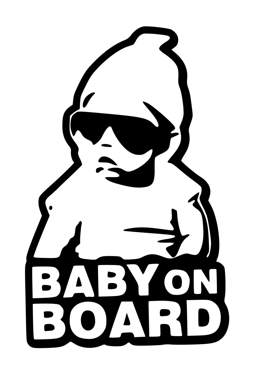 Hoodie baby on board sticker decal badge bumper