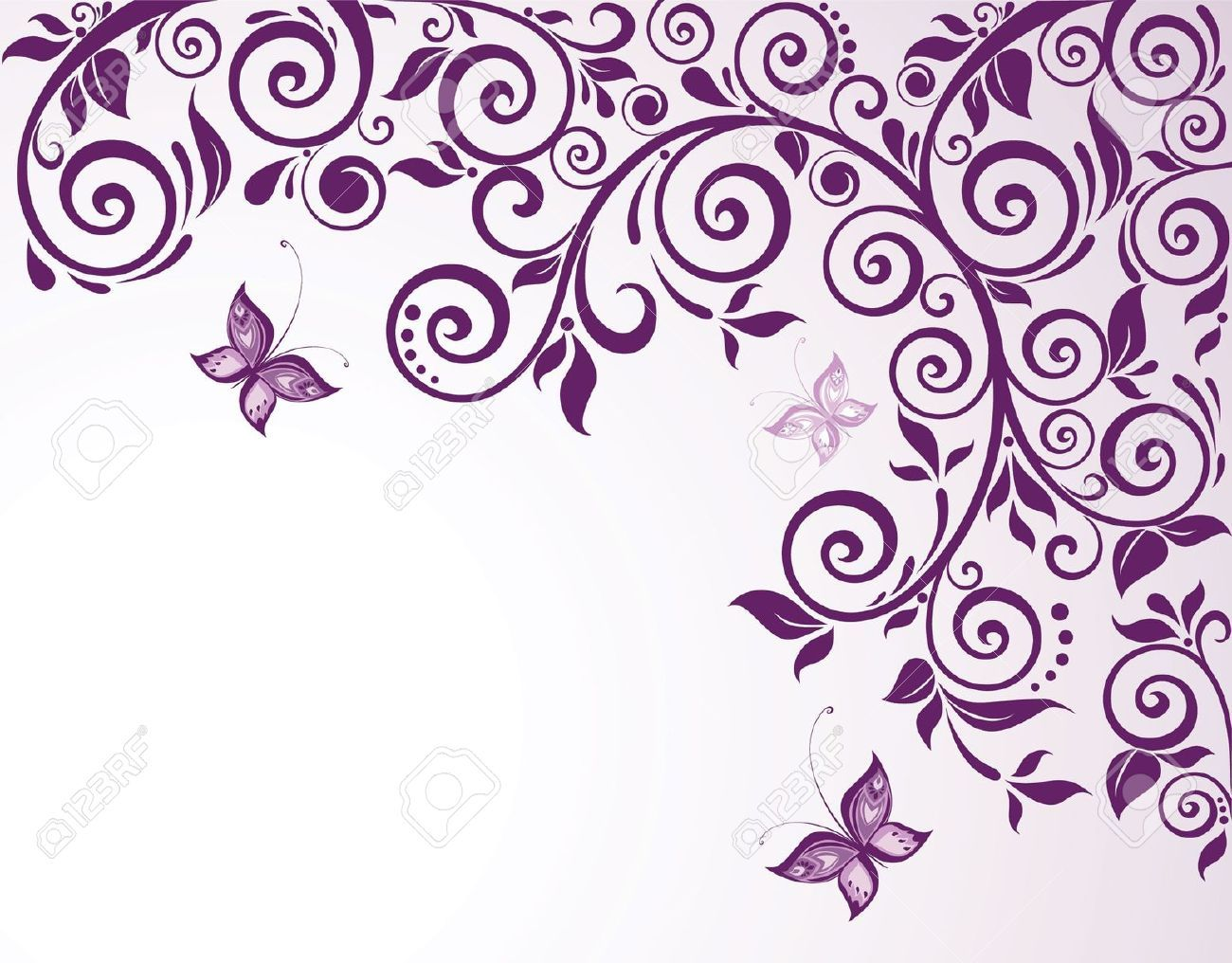 Download premium vector of Purple flower on white