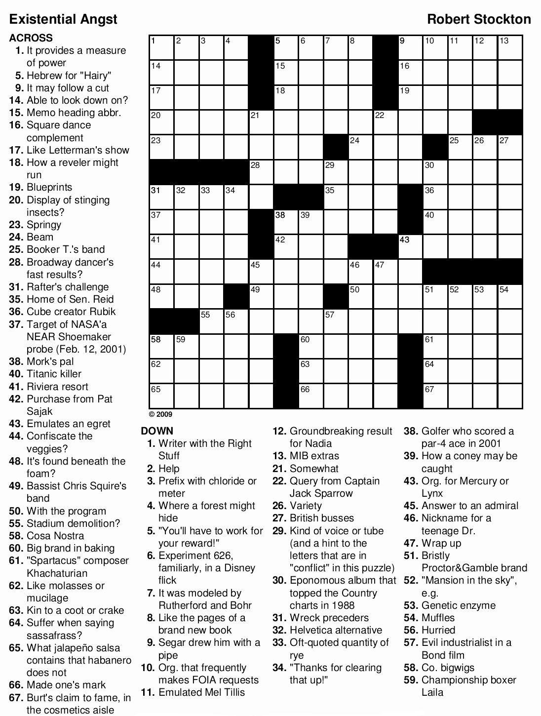 Crossword Puzzles for Adults (With images) Printable