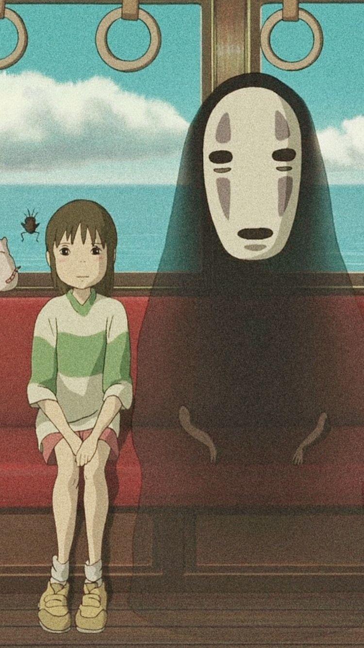 Le voyage de chihiro fond d'écran style aesthetic   Le voyage de chihiro, Fond d'ecran dessin ...