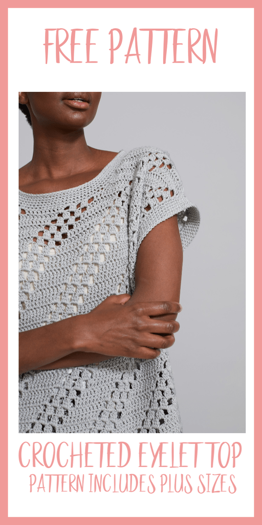 Crocheted Diagonal Eyelet Top-Free Pattern - Nana's Favorites