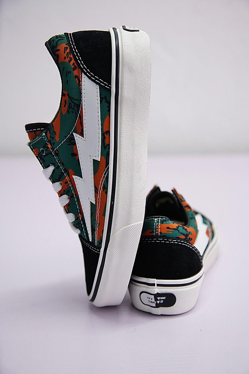 Vans Revenge X Storm Dark Green Orange Camouflage 008243210 Vans Shoes Fashion Vans Shoes Custom Vans Shoes