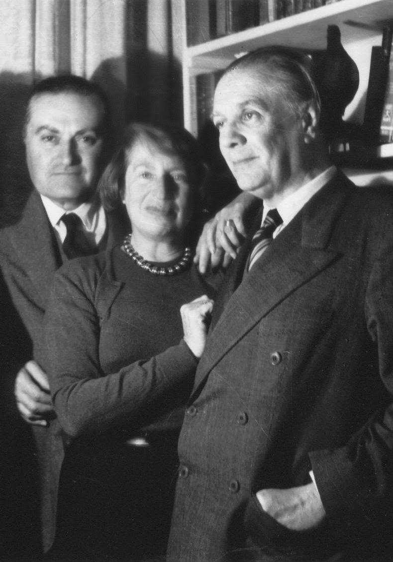 Borges todo el año: Jorge Luis Borges: Manuel Peyrou - Foto: Manuel Peyrou, Silvina Ocampo y Borges (s-d)