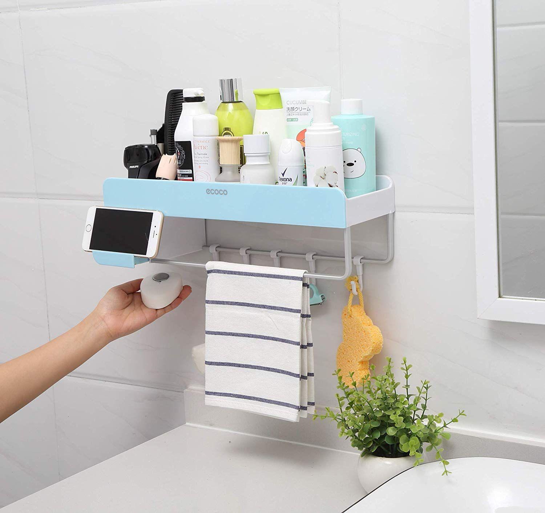 the latest bf76c 6bf24 Adhesive Bathroom Shelf Storage Organizer Wall Monuted ...