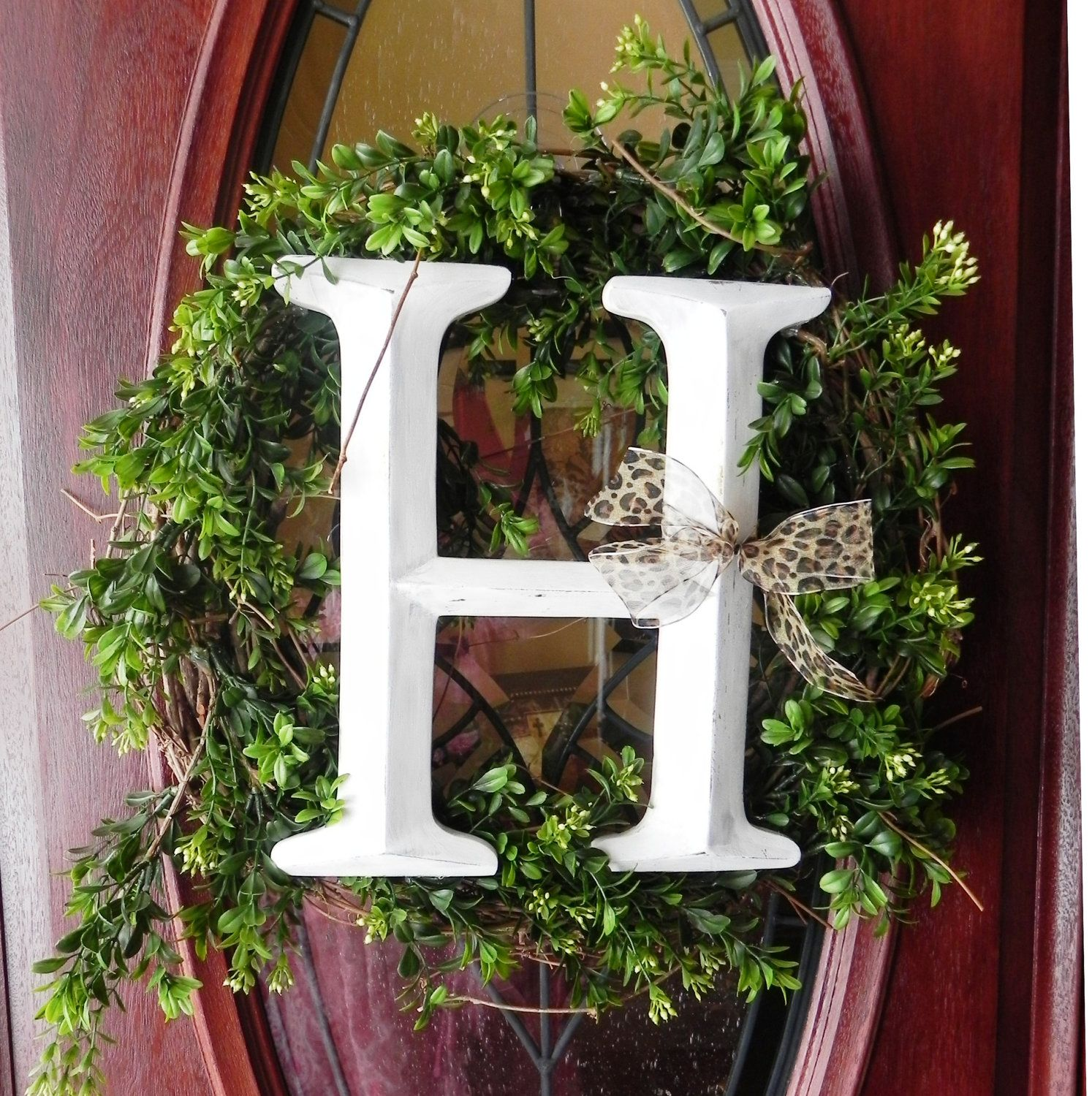 Made to Order - Initial Wreath | Initial wreath, Front ...